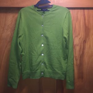 Land's End Classic Cardigan Green